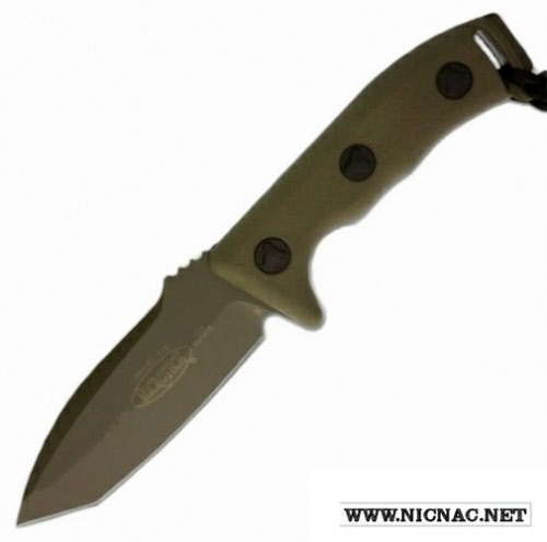 Microtech Currahee 103-1 GR Fixed Blade Knife Tanto Green Plain