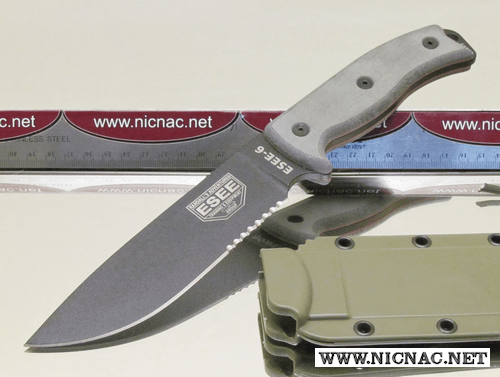 ESEE Model 6S-OD Part Serrated knife with sheath | ESEE 6S-OD