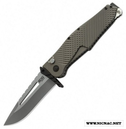 SOG Quake XL Spring Assisted Knife with Crossguard