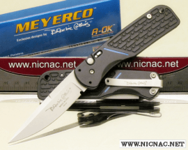 blackie collins meyerco thin blue line automatic knife matblauto