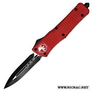microtech combat troodon 142-1rd de red black plain otf knife